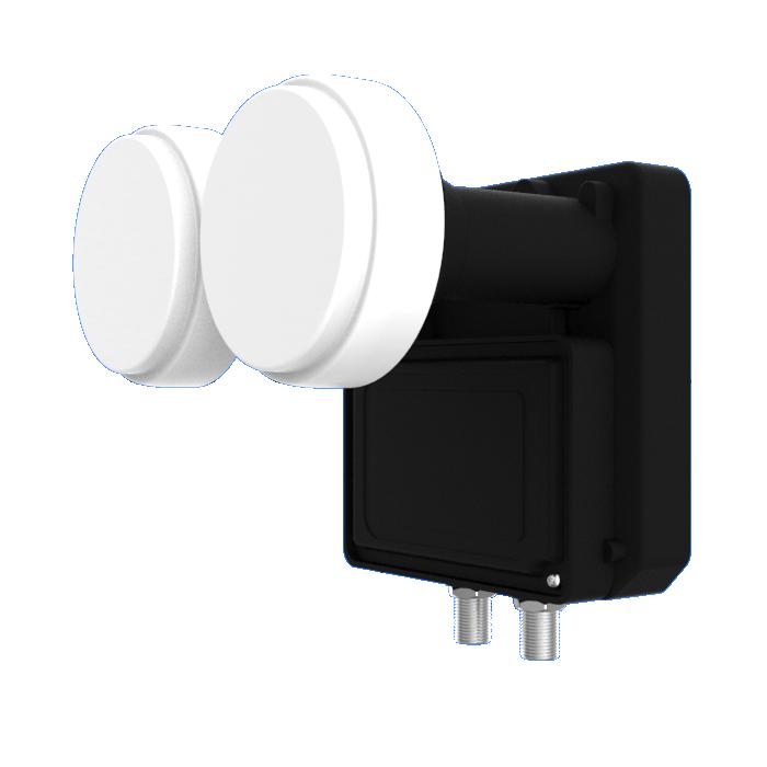Twin Monoblock 23mm LNB ,6° for 80cm dish - Inverto TV