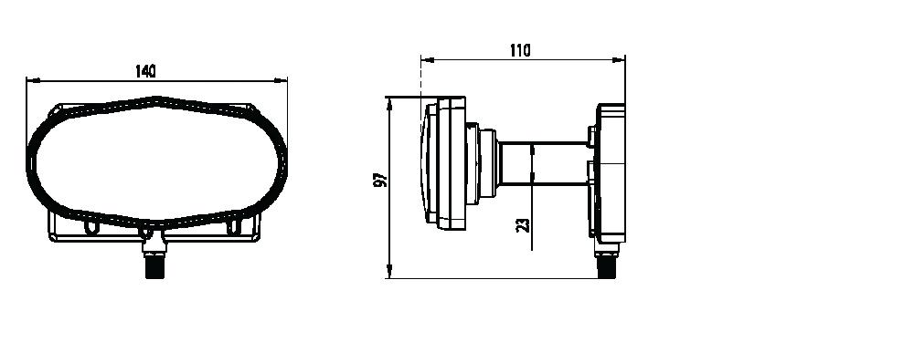 Single triplefeed 23mm LNB 13°E + 16°E + 19 2°E for 85cm