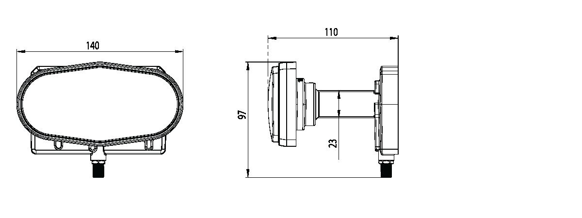 Single triplefeed 23mm LNB 13°E + 16°E + 19 2°E for 85cm dish